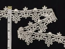 2 Inch Victorian Style Chandelier Venise Lace Trim, 5 Yard Lot, Ivory or Black