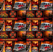 Fire Fighting, Flames, & Fire Trucks Cotton Fabric!