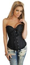 Plus Size HOT BLACK Lace Up Bustier Corset HOLIDAY Clubwear Lingerie Corset