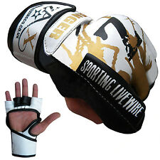 Rex Leather Grappling Gloves Cage Fight Boxing MMA Training Muay Thai Gloves