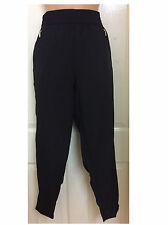 LADIES LOOSE FIT STRETCH WAIST HAREM STYLE TROUSERS SIZE 8 - PLUS SIZE 26