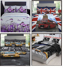 EXCLUSIVE 3D DESIGN DUVET COVER SET WITH PILLOWCASE - SINGLE, DOUBLE, KING