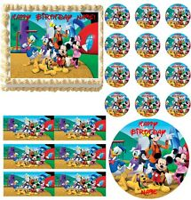 MICKEY MOUSE CLUBHOUSE Super Cute Edible Cake Topper Frosting Image-All Sizes