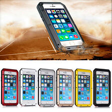 Waterproof Shockproof Aluminum Gorilla Glass Metal Cover Case for Apple iPhone *