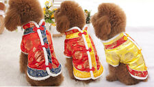 Dog Pet Clothing Apparel Chinese style Costume Winter Hoodies Sweater Warm Coat