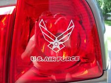2 Emblems - US Air Force Decals - Silver Taillight or any Smooth Surface