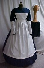 Women sm-xlg  4pc NURSE Civil War, Victorian Costume Set Cotton Blend, 5 Colors