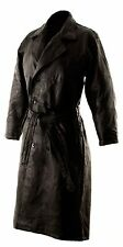 Mens Leather Trench Long Duster Coat -Sm Med Lg  XL
