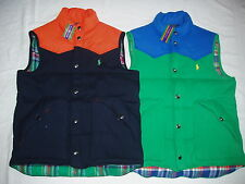 NWT $185 Polo Ralph Lauren Mens Colorblocked Fleece Vest Jacket M, L Great Gift