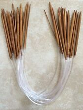 "Carbonized Bamboo Circular Knitting Needles 24"" - Your Choice Of Size -US Seller"