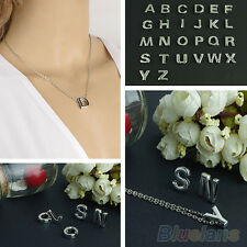 Classic Women Girls DIY Letter Name Initial Link Chain Charm Pendant Necklace