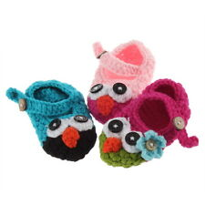 Cute Handmade Newborn Baby Infant Crochet Knit Owl Shoes Booties shoes DX