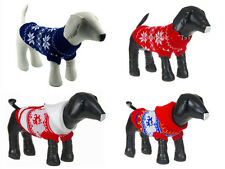 pet dog sweater warm clothing crochet Christmas coat for chihuahua dachshunds