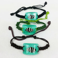 Fashion Jewelry Bracelet Charm with Surfers Sea Life Banded Seashell Green L005