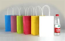 Hot 5x cute Party Bags Kraft Paper Gift Bag With Handles Recyclable Loot Bag SH