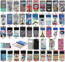 Fashion Pretty Printed Flip View Time PU Leather Stand Case Cover For Sony Phone