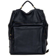 Unisex women's Casual Backpack Campus school Book bags Laptop BagGenuine leather