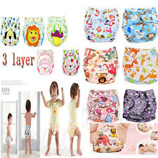 Baby Adjustable size Printed Cloth Diaper Training Pants TPU Nappy Cloth Diaper