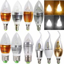 Chandelier Candle Light Bulb E14 E27 Flame 3W 9W 12W Dimmable High Power LED