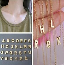 New Stylist Women Gift Gold plate Letter name Initial chain Pendant Necklace