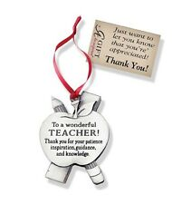 Apple Shaped Teacher Ornament To a Wonderful Teacher Thank you for . Camco CO765