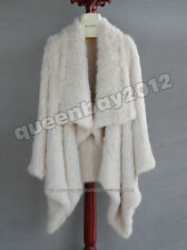 2015 100% Real Knitted Rabbit Fur Jacket Coat Outwear Garment High Quality New