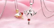 Cardcaptor Sakura Star Wand Key and Seal Wand Key Pendant 925 Silver Necklace