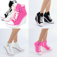 Toe open Wedges Trainers Heels Sneakers Platform High Top Ankles Shoes Light 777
