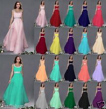 Stock Long Formal Wedding Ball Gown Party Prom Bridesmaid Evening Dress Size6-18