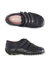 New Jacadi GIRLS Kids Leather Navy Pink Velcro Sneakers Tennis Shoes size 28 31
