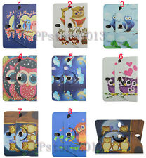 "Slim 360 Rotating Cute OWL Leather Case Smart Cover For 9"" 10.1"" Various Tablet"