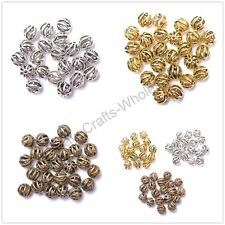 Tibetan Silver, Gold, Bronze, Round Hollow Loose Spacer Beads 8MM & 10MM