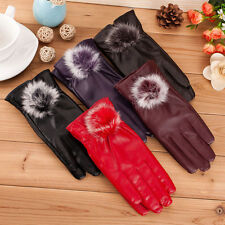 New Ladies Womens Soft Real Leather Gloves Lined Winter Driving Gift