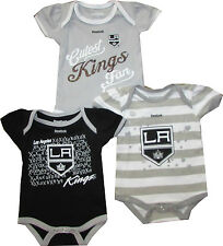 Los Angeles LA Kings 3pc Creeper Bodysuit Set Infant Baby GIRLS Team Color