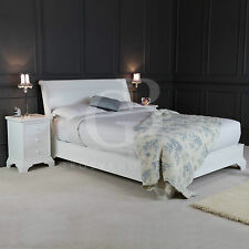 New Painted White Georgian 5ft King Size Sleigh Bed - Low Foot Board