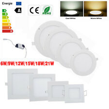 Dimmable 6W 9W 12W 15W 18W 21W Cree LED Recessed Ceiling Panel Spot lights Lamp