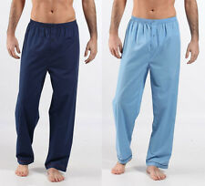 MENS PYJAMA BOTTOMS TWIN PACK  BLUE/NAVY•Size: MEDIUM,