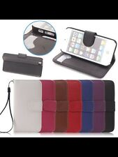 Flip Wallet Leather Case Cover for Apple iphone 5 & 5s free wrist strap