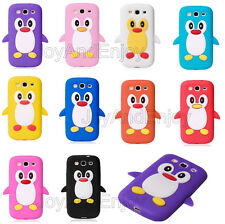 3D Cute Cartoon Penguin Soft Silicone ShockProof Back Case Cover For iPhone iPod