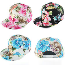 Summer Women Men  Floral Flower Snapback Hip-Hop Adjustable Sport Baseball Cap