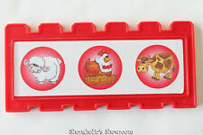 Fisher Price Barnyard BINGO FENCE ONLY Game Piece REPLACEMENT Blue Red Yellow