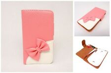 Pink Wallet 3D Bow bowknot Book Pouch Flip Leather Case Cover for MOBILE PHONE 6
