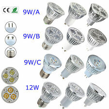 Epistar LED 9W 12W MR16 E27 GU10 Dimmable Cool Warm White LED Bulb Lamp Light