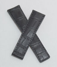 Grey crocodile-style watch strap for TAG Heuer Grand Carrera with FC5037/9 clasp