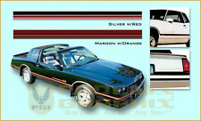 1985 1986 Chevrolet Monte Carlo SS Super Sport Decals & Stripes Kit
