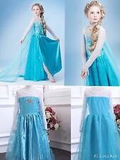 New Style Frozen Elsa Dress Deluxe Range costume Princess party dresses 3-12YRS