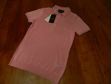NEW GENUINE Fred Perry Womens Amy Winehouse Knitted Silk Pink Shirt RRP £79