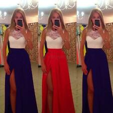 Formal Long Lace Women Prom Evening Party Bridesmaid Wedding Backless Maxi Dress