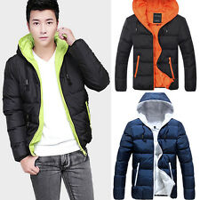 Fashion New Winter Mens Down Slim Fit Down Jacket Winter Contrast Coats 4size