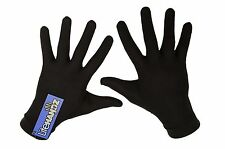 100% Silk Glove Liners, Thermal Inner Gloves for Skiing, Running, Motorbiking
